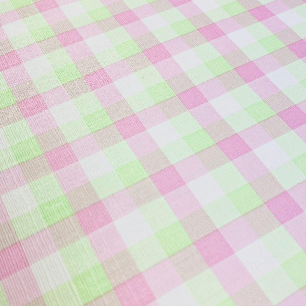 Checkered Wallpaper Fluo Green and Pink 9