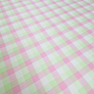 Checkered Wallpaper Fluo Green and Pink 10
