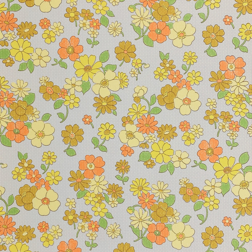 Colorful 1970s Floral Wallpaper 2