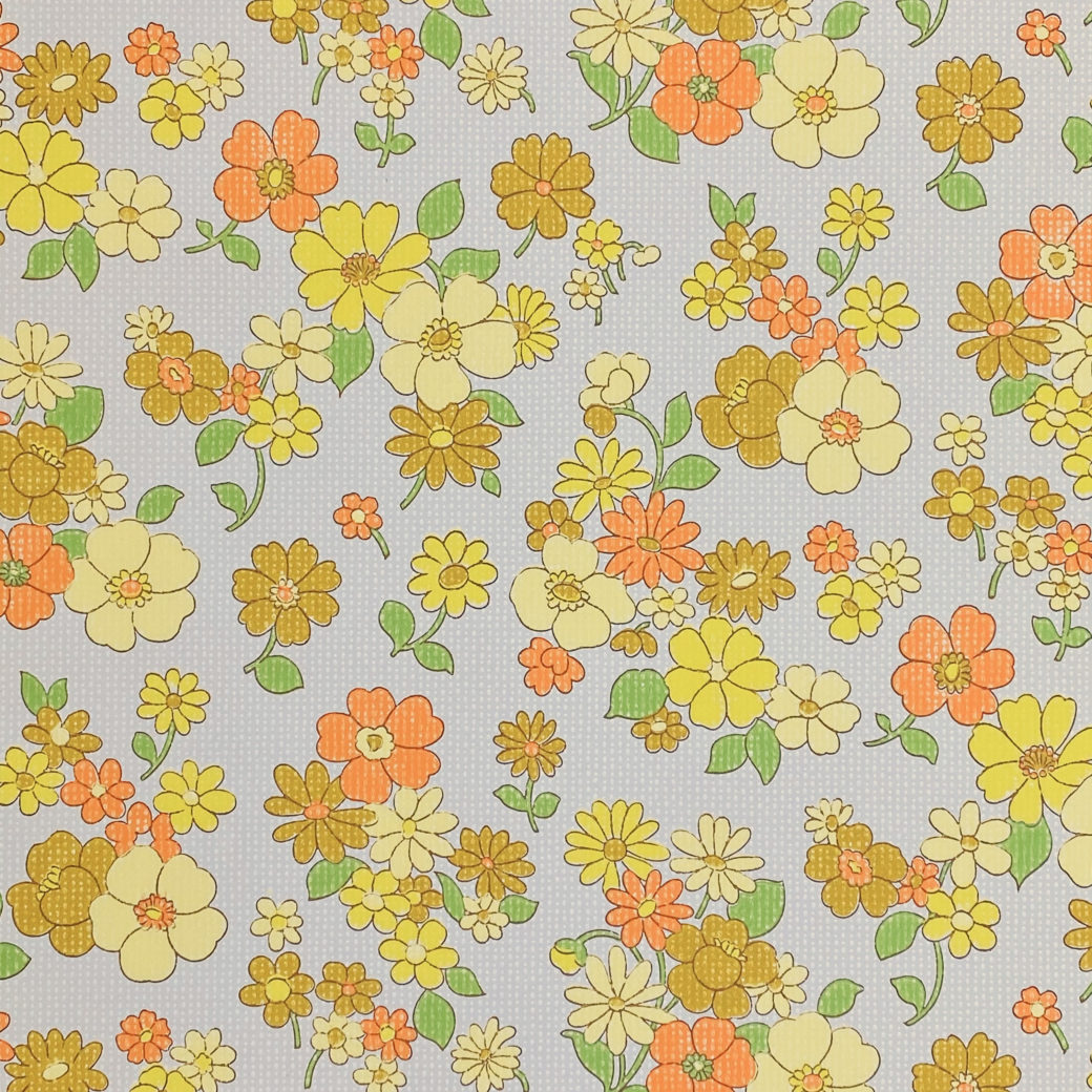 Colorful 1970s Floral Wallpaper 3