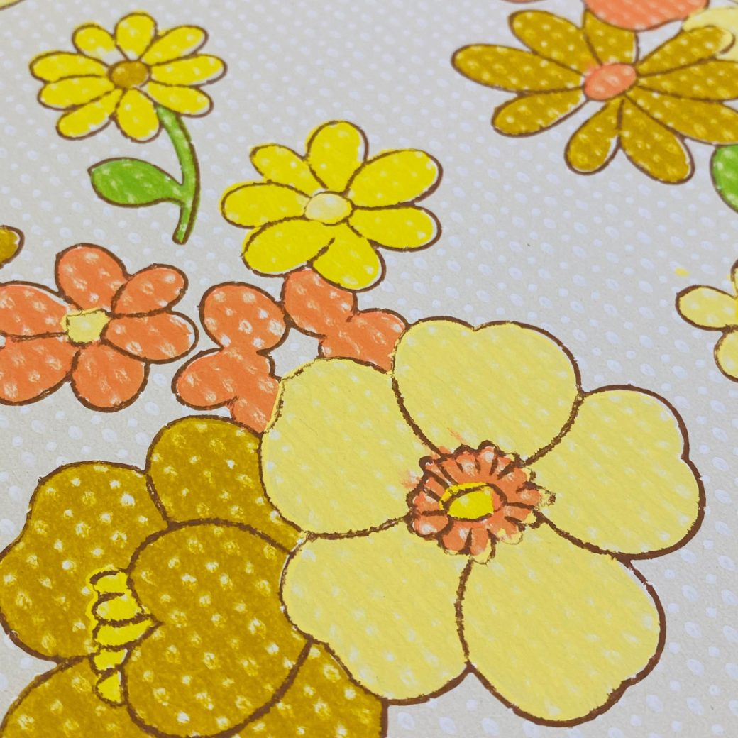 Colorful 1970s Floral Wallpaper 7