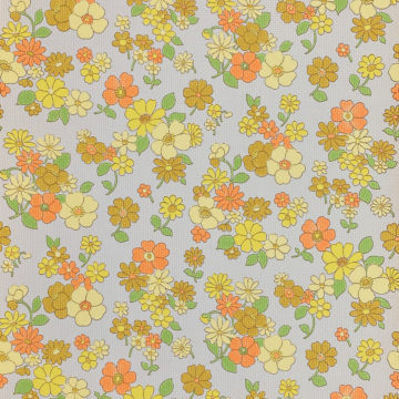 Colorful 1970s Floral Wallpaper 1