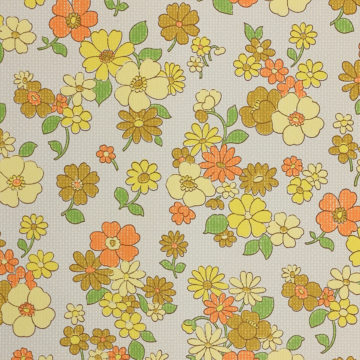 Colorful 1970s Floral Wallpaper 4