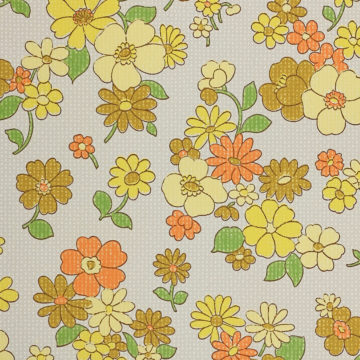 Colorful 1970s Floral Wallpaper 5