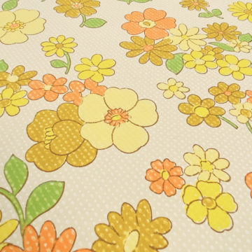 Colorful 1970s Floral Wallpaper 6