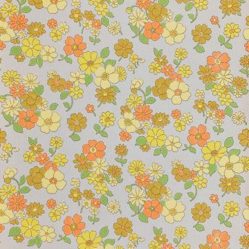 Colorful 1970s Floral Wallpaper