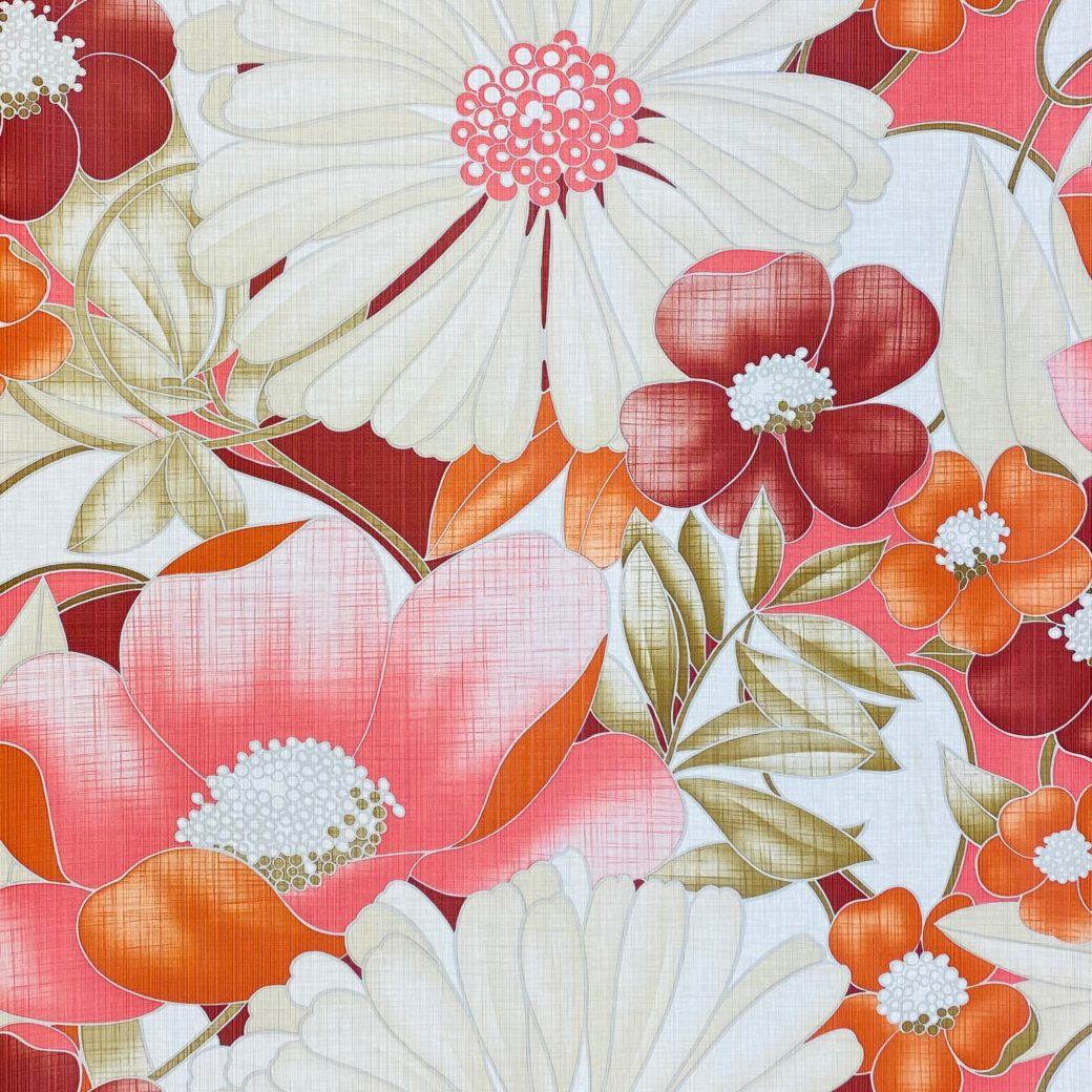 Colorful Floral Wallpaper Pink and Red 1