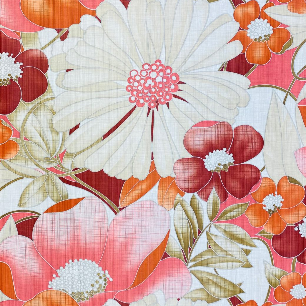 Colorful Floral Wallpaper Pink and Red 2