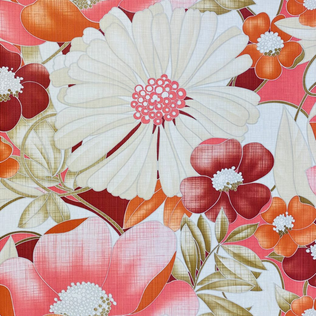 Colorful Floral Wallpaper Pink and Red 3