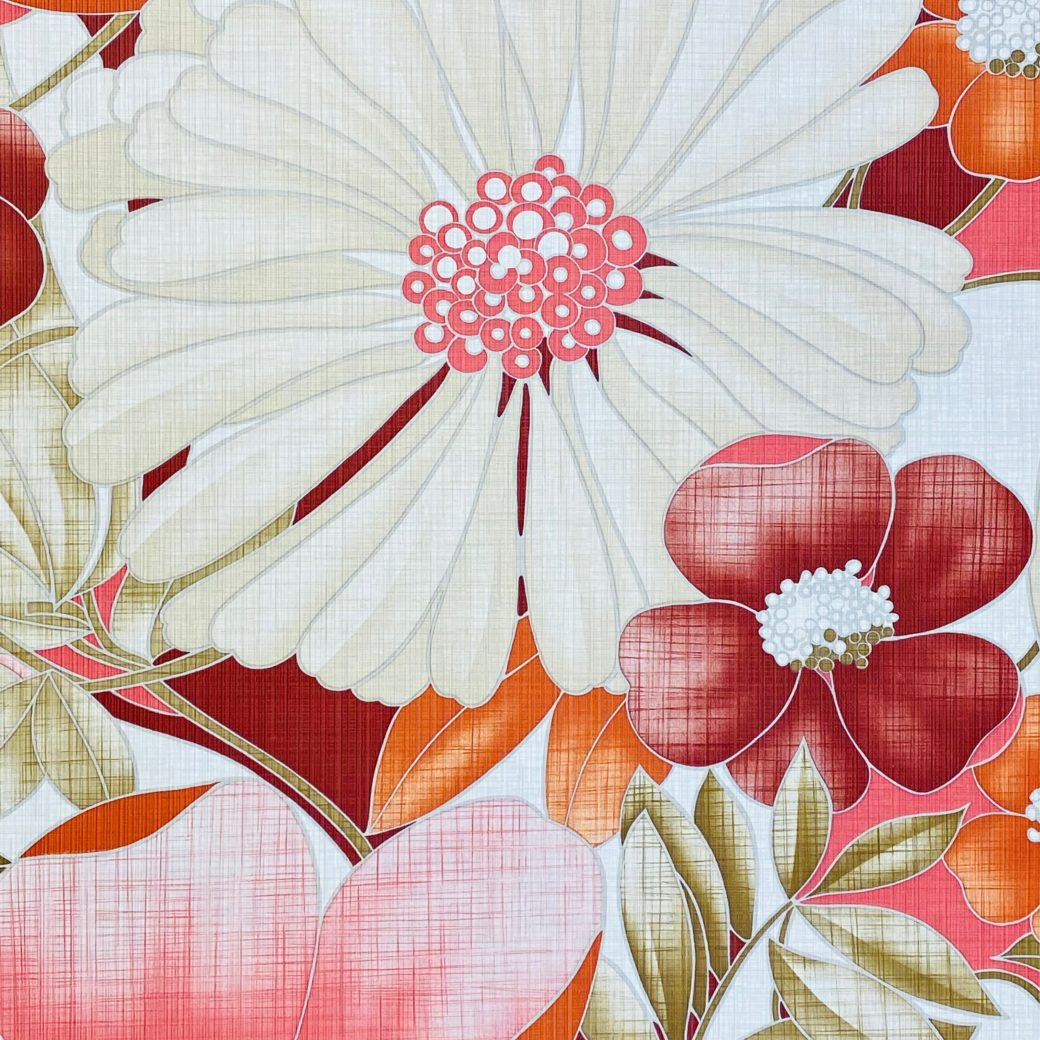 Colorful Floral Wallpaper Pink and Red 5