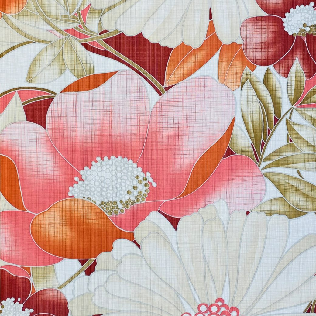Colorful Floral Wallpaper Pink and Red 6