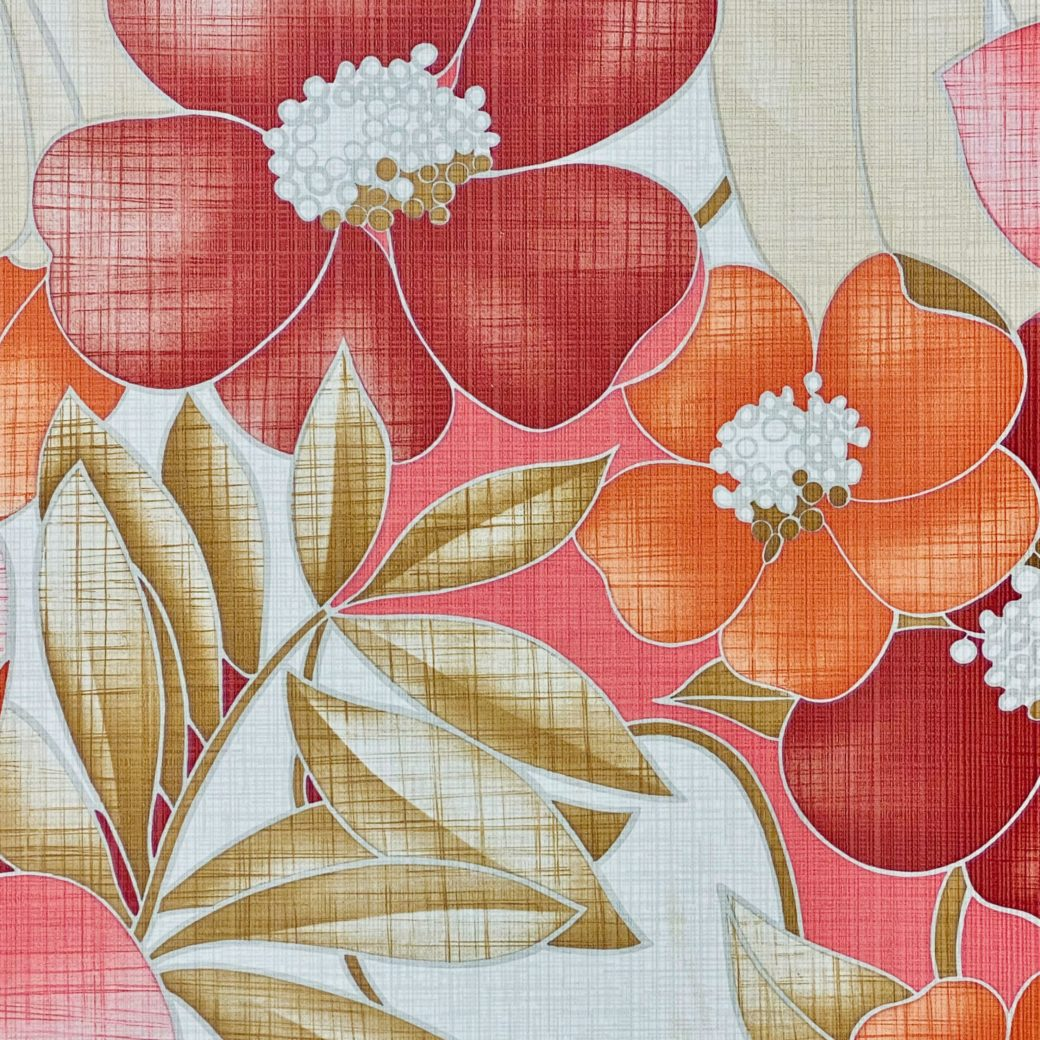 Colorful Floral Wallpaper Pink and Red 9