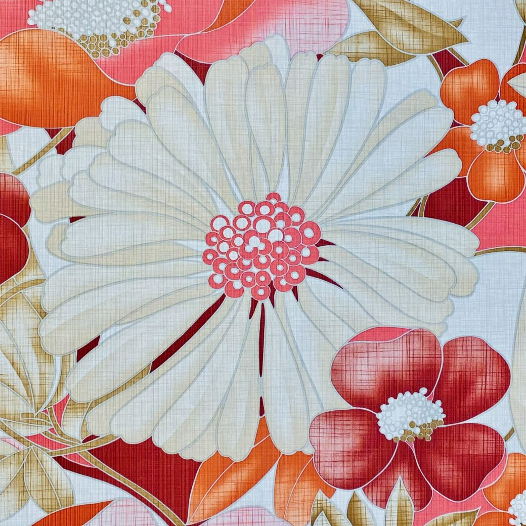 Colorful Floral Wallpaper Pink and Red 12