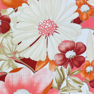 Colorful Floral Wallpaper Pink and Red 4