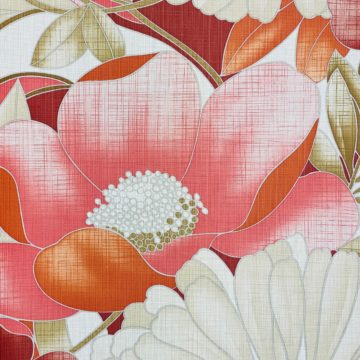 Colorful Floral Wallpaper Pink and Red 7