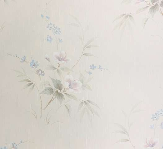 Shiny 1980s floral wallpaper