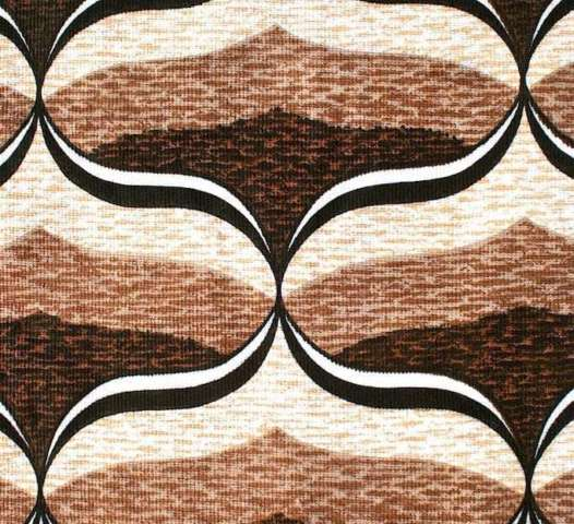 Brown geometric fabric coupon 1
