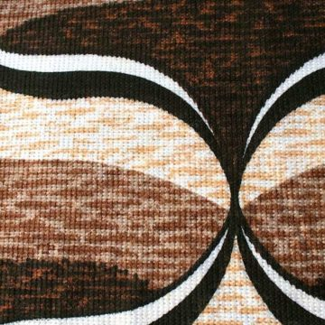 Brown geometric fabric coupon 2