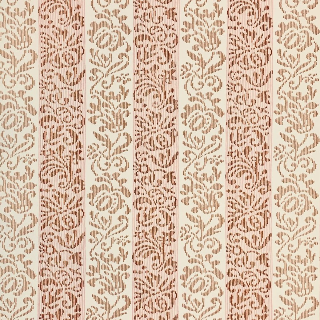 Vintage striped floral wallpaper 1 1