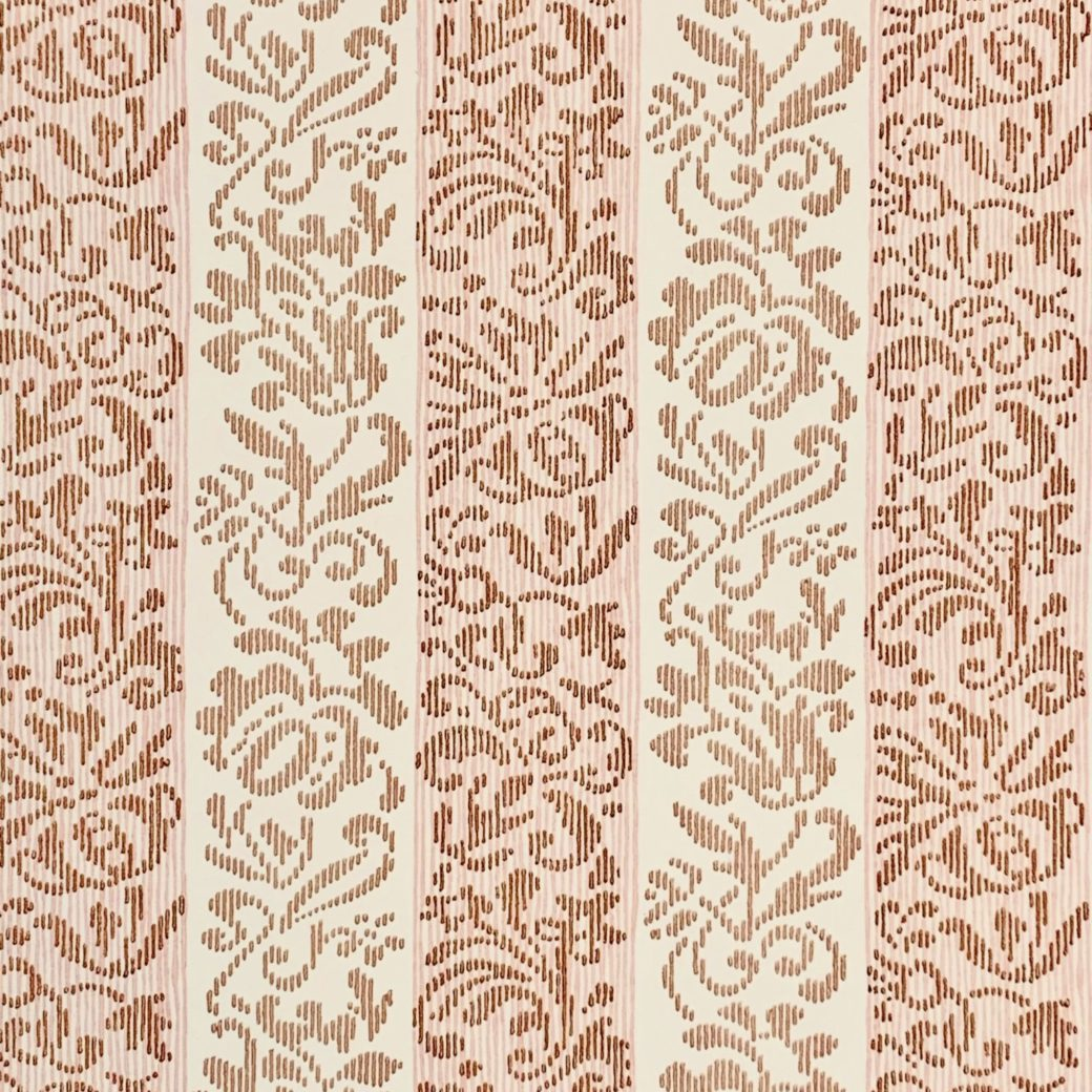 Vintage striped floral wallpaper 3 1