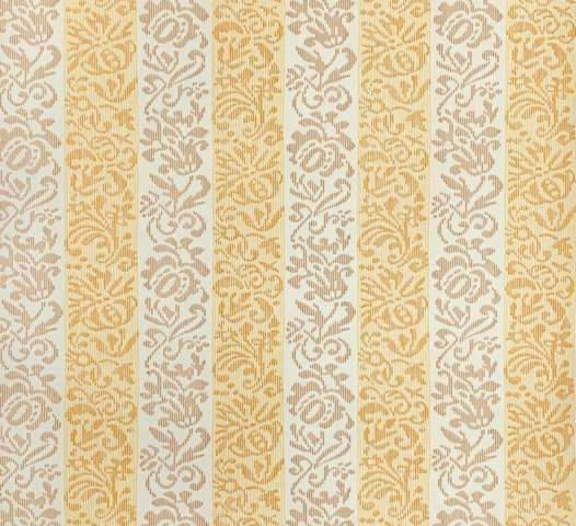 Yellow striped floral wallpaper 5