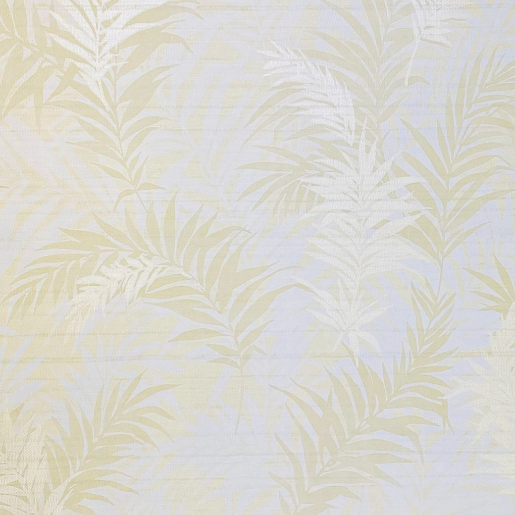 Floral Leaf Pattern Wallpaper Yellow and Green 2