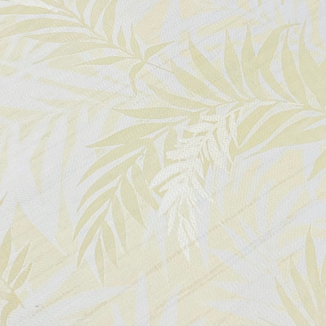 Floral Leaf Pattern Wallpaper Yellow and Green 5