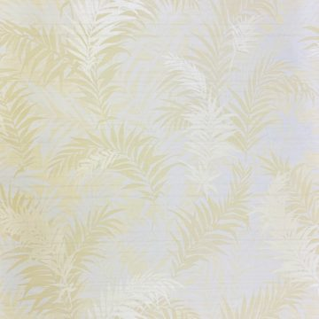 Floral Leaf Pattern Wallpaper Yellow and Green 1