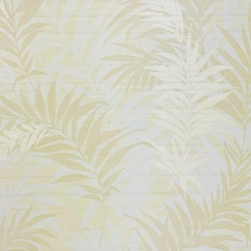 Floral Leaf Pattern Wallpaper Yellow and Green 3