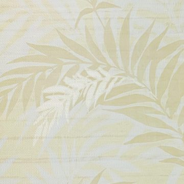 Floral Leaf Pattern Wallpaper Yellow and Green 4