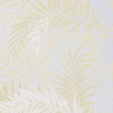 Floral Leaf Pattern Wallpaper Yellow and Green 6