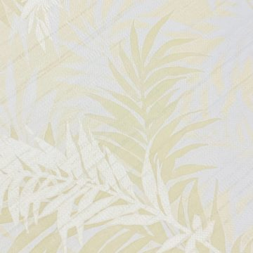 Floral Leaf Pattern Wallpaper Yellow and Green 7