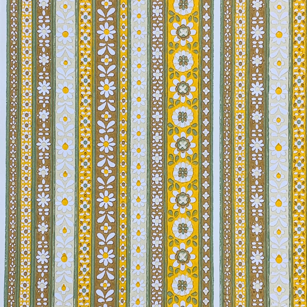Floral Striped Wallpaper 3