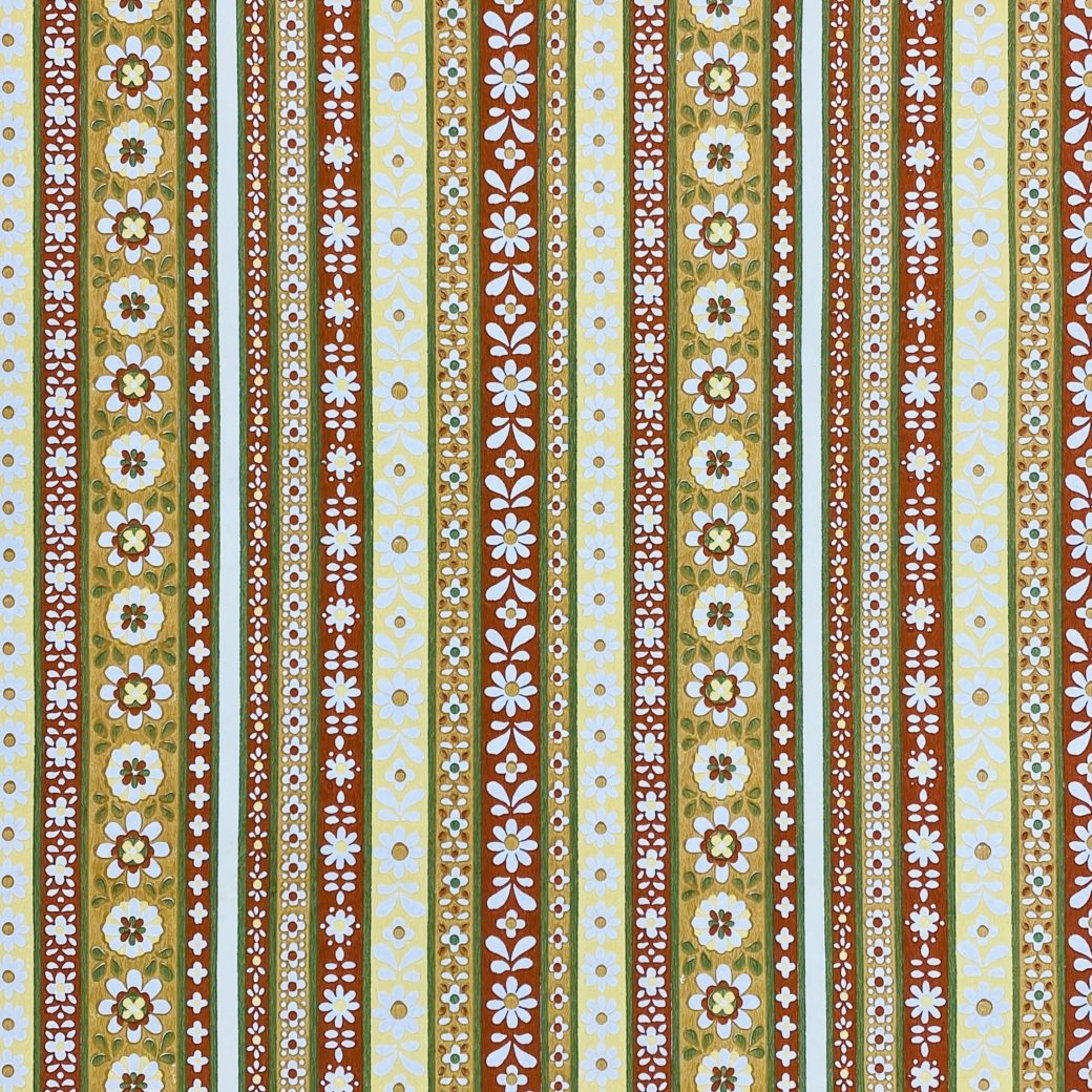 Floral Striped Wallpaper 1