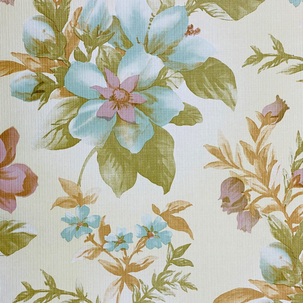 Floral Wallpaper Blue and Purple 4