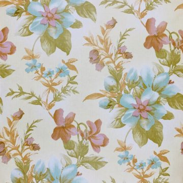 Floral Wallpaper Blue and Purple 1