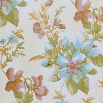 Floral Wallpaper Blue and Purple 2