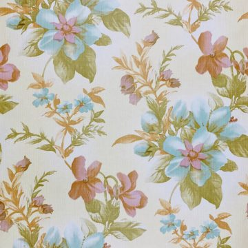 Floral Wallpaper Blue and Purple