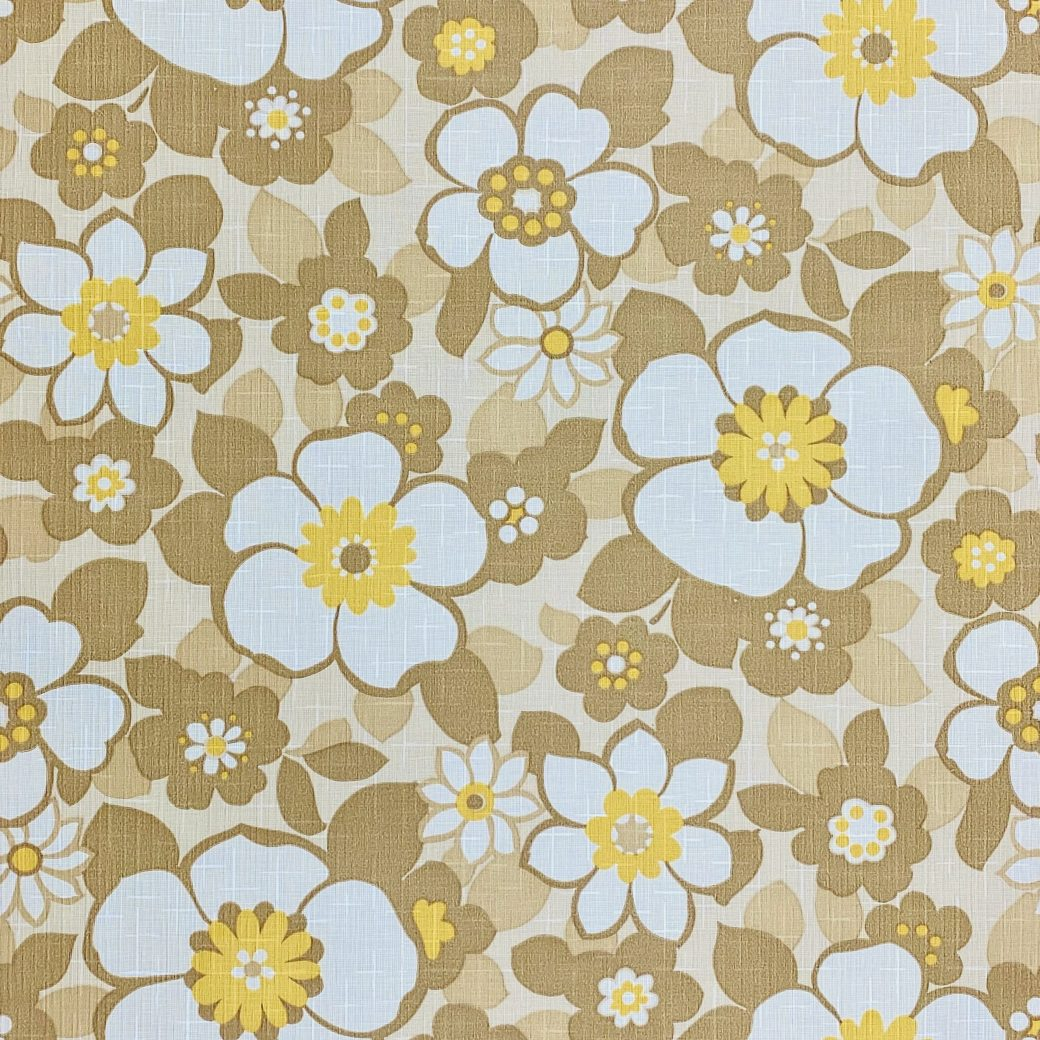 Floral Wallpaper Brown and Yellow