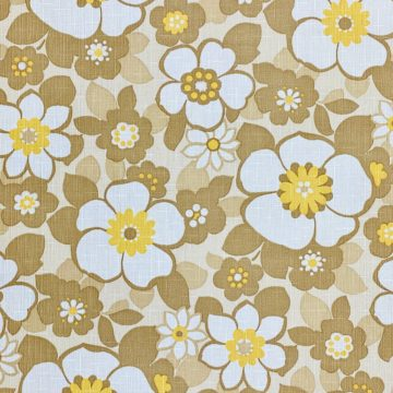 Floral Wallpaper Brown and Yellow 2