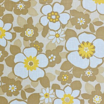 Floral Wallpaper Brown and Yellow 4