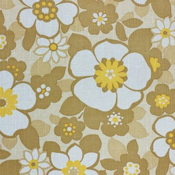 Floral Wallpaper Brown and Yellow 5