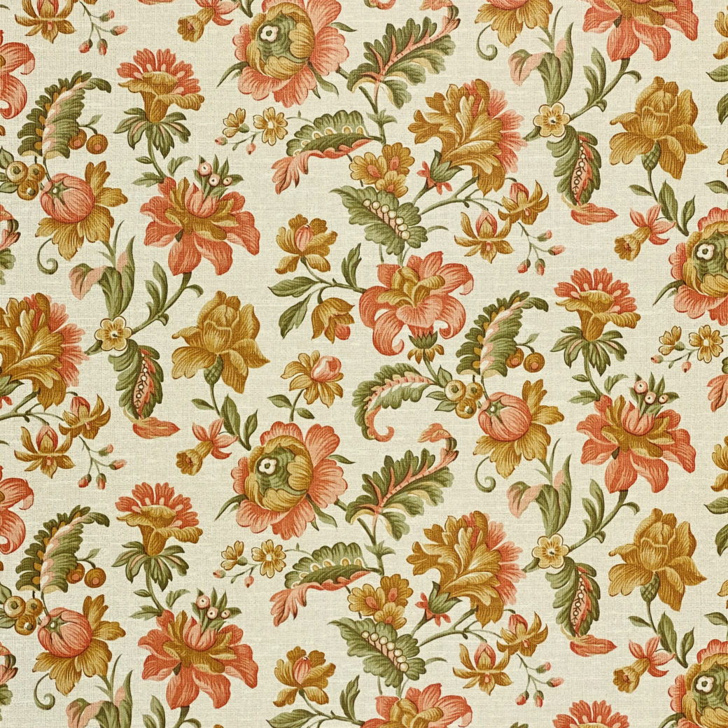 Floral Wallpaper Pink and Green 4
