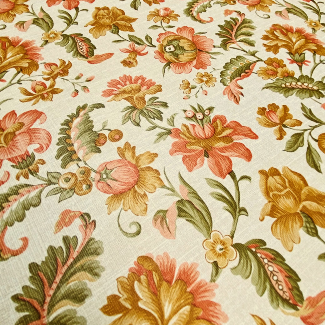 Floral Wallpaper Pink and Green 6