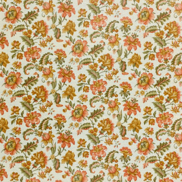 Floral Wallpaper Pink and Green 1