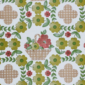 Floral Wallpaper Red Brown Green 4