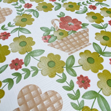 Floral Wallpaper Red Brown Green 6