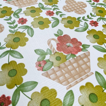 Floral Wallpaper Red Brown Green 7