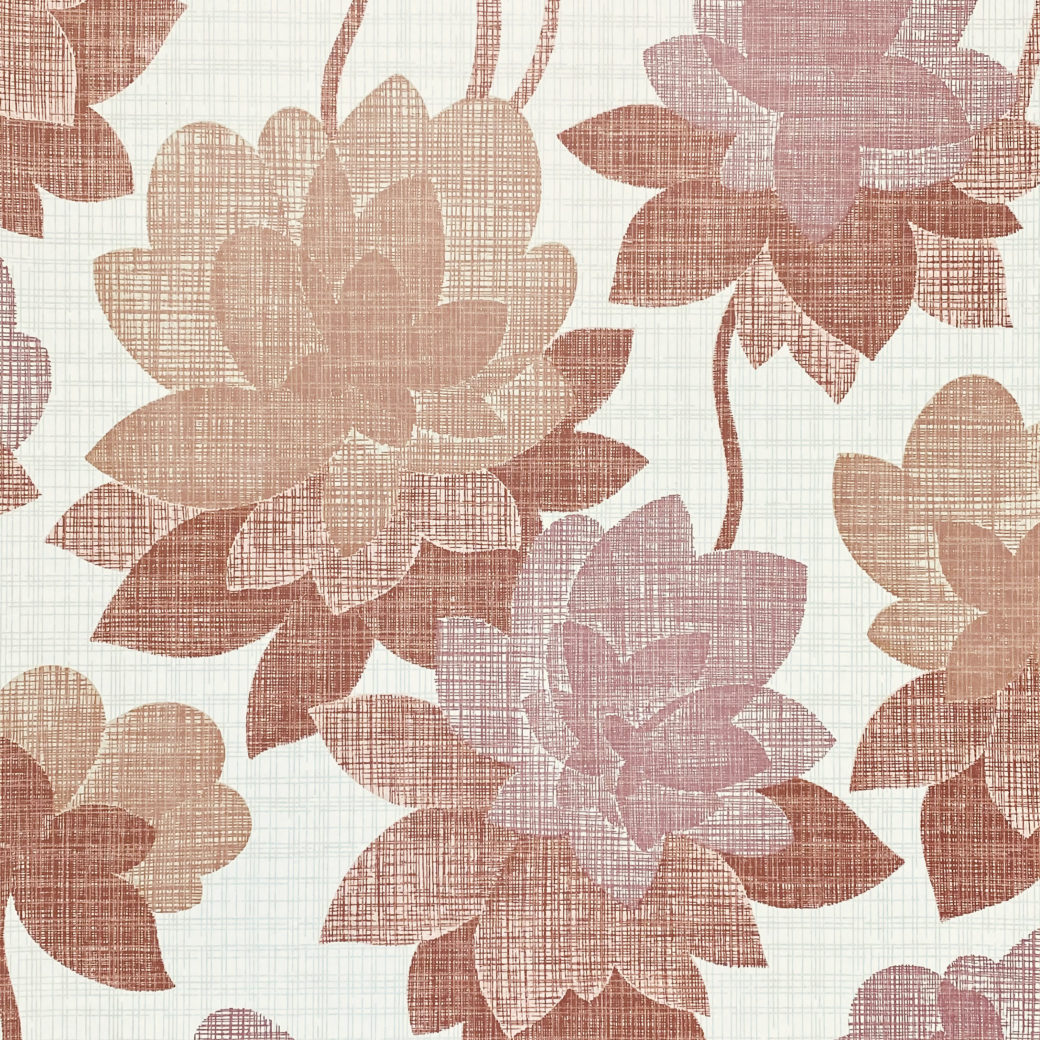 Floral Wallpaper Shades of Purple 1