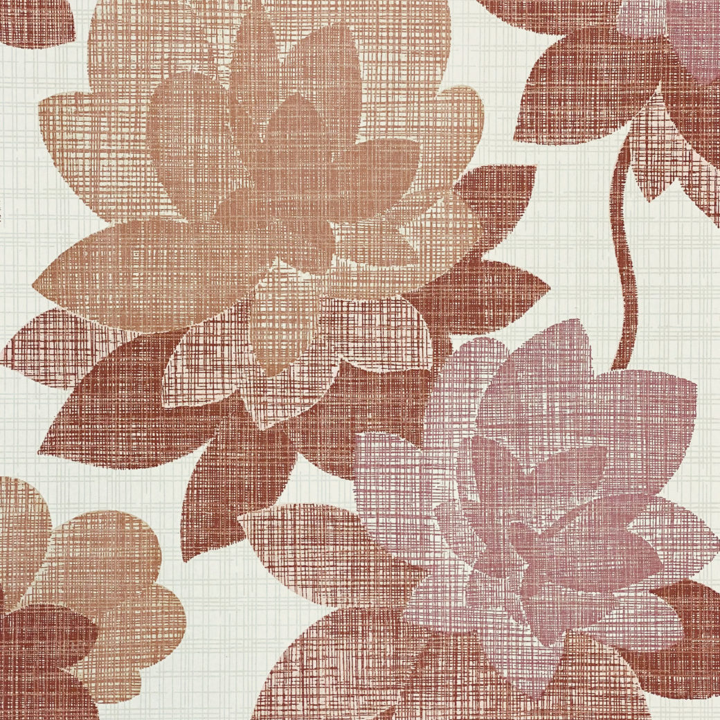 Floral Wallpaper Shades of Purple 3